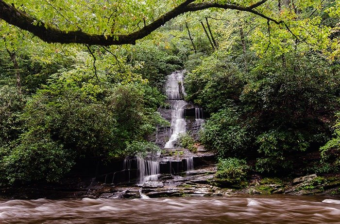 Tom Branch Falls Deep Creek Trail NC