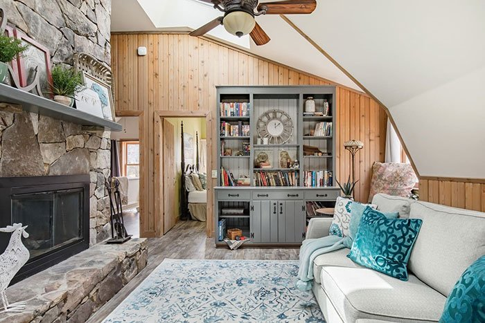 Upper Level of Historic Carriage House Boone Airbnb