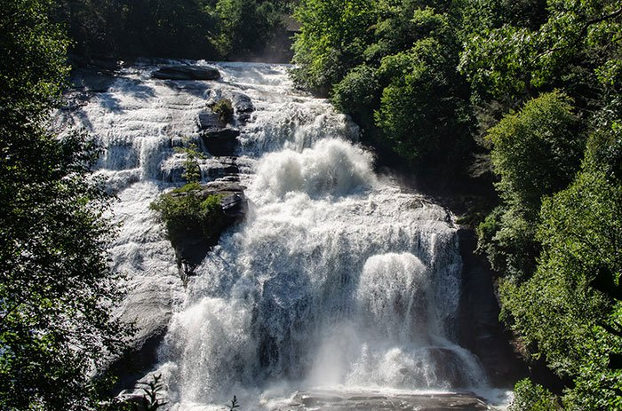 Waterfalls near Asheville High Falls DuPont State Recreational Forest