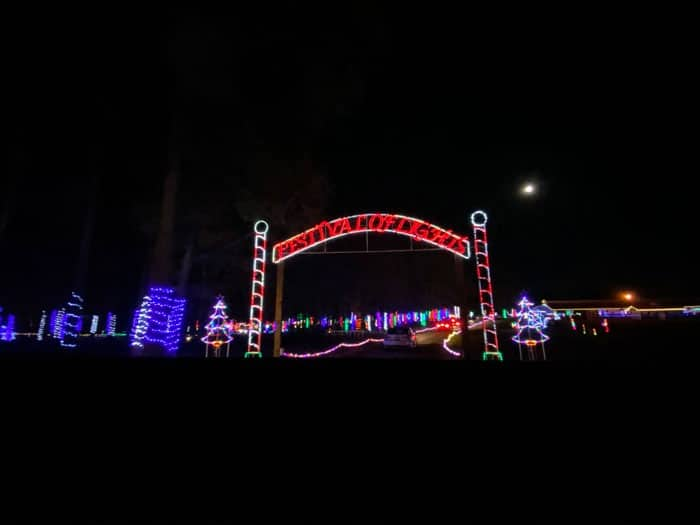 Christmas Lights in North Carolina Festival of Lights Hill Ridge Farm Youngsville NC