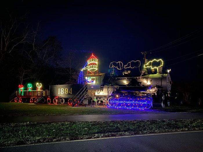 Christmas Lights in North Carolina Tanglewood