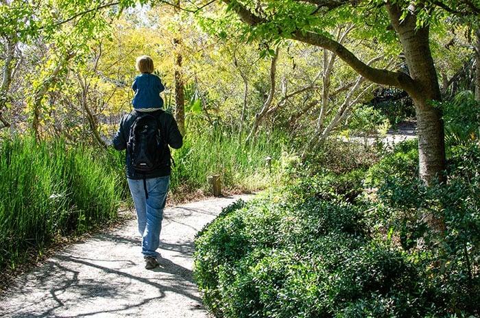 walking at North Carolina Aqaurium at Fort Fisher Wilmington