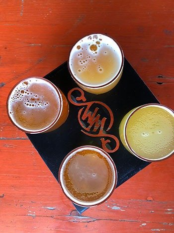 Breweries in Winston Salem Wise Man Brewing Flight