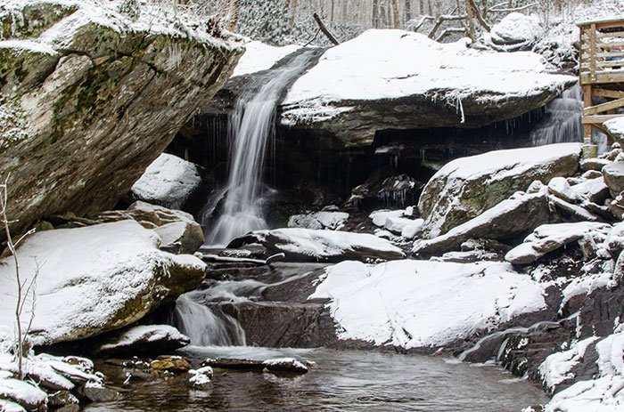 Otter Falls in the Winter