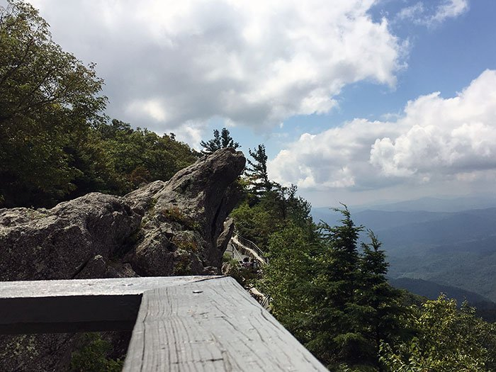 The Blowing Rock View from the Observation Deck