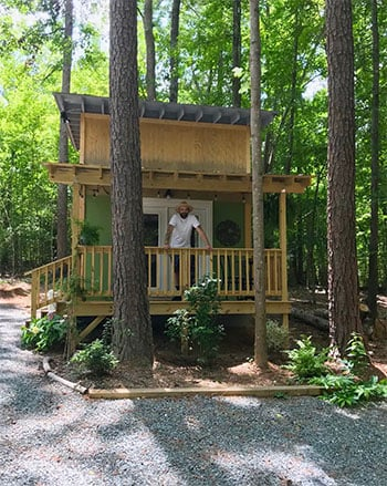 Tiny Houses in North Carolina Tranquil Tiny House in the Woods