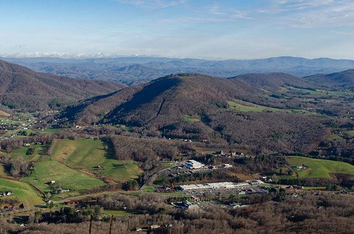 Western North Carolina View from Mount Jefferson