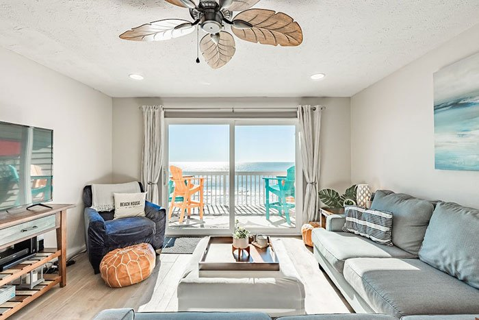 Airbnbs in Wilmington Oceanfront Retreat Kure Beach Photo Courtesy of Airbnb