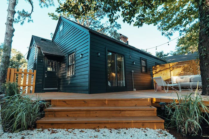 Airbnbs in Wilmington The Black House Wilmington Photo Courtesy of Airbnb