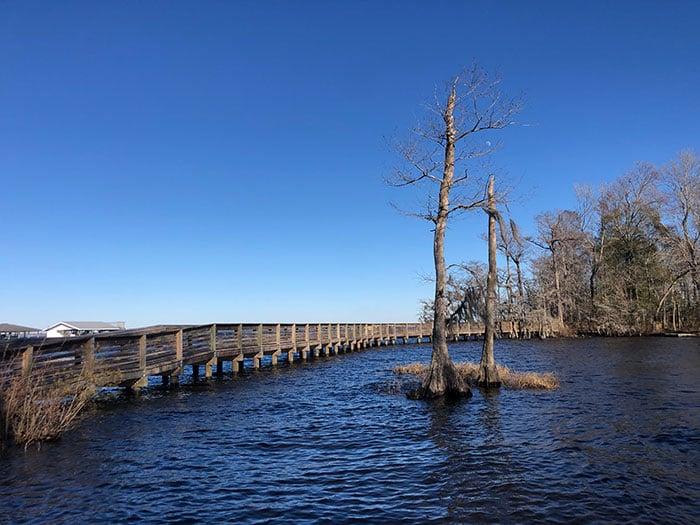 Lake Waccamaw Dam Boardwalk