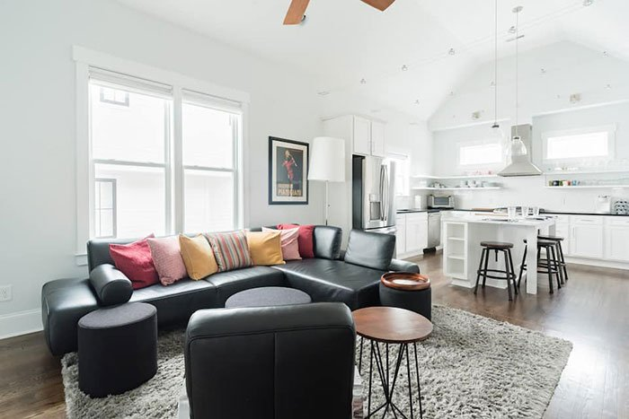 Stroll Downtown from Charming Contemporary Escape Raleigh Airbnb
