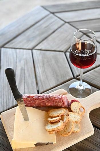 Charcuterie at Grassy Creek Vineyards