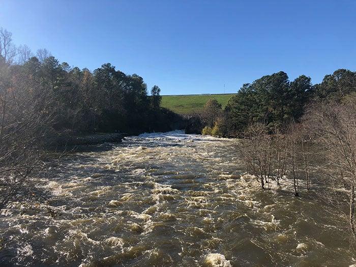 Day Trips from Greensboro NC Falls Lake Dam
