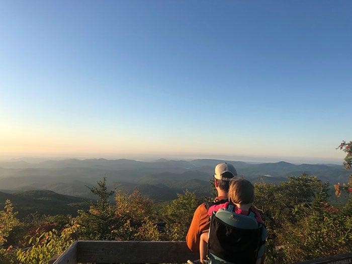 Day Trips from Greensboro NC Rough Ridge Trail near Boone NC