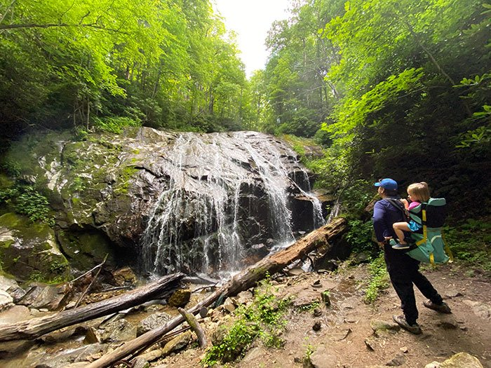Glen Burney Trail Blowing Rock Waterfalls near Asheville NC