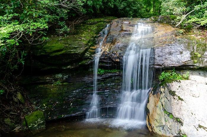 Green Mountain Creek Falls Roadside Waterfalls near Asheville NC