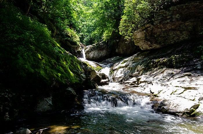 Laurel Creek Falls aka Trash Can Falls Waterfalls near Asheville NC