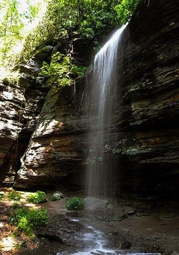 Moore Cove Falls near Brevard NC