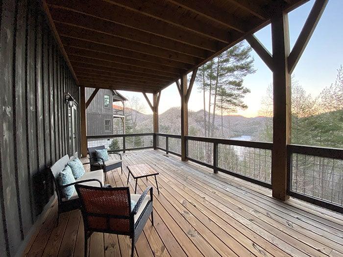 Porch at Bear Lake Reserve