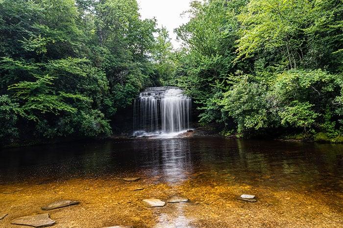 Schoolhouse Falls Waterfalls near Brevard NC