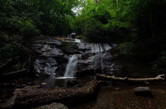 Setrock Creek Falls Waterfalls near Asheville NC