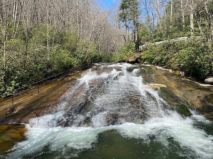 Sliding Rock near Looking Glass Falls NC