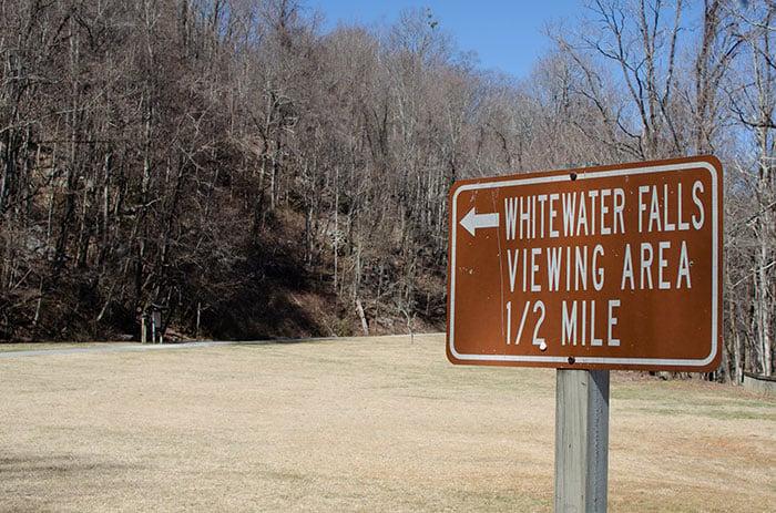 Upper Whitewater Falls Trail Beginning 1