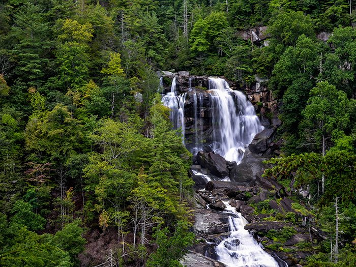 Upper Whitewater Falls from the Upper Observatory