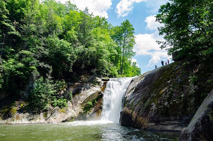 Waterfalls near Asheville NC Elk River Falls