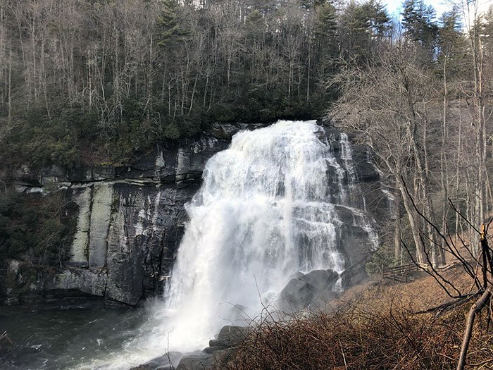 Waterfalls near Asheville NC Rainbow Falls at Gorges State Park