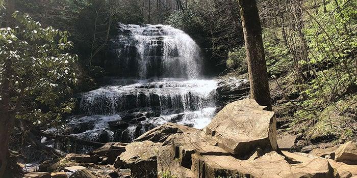 Waterfalls near Asheville Pearsons Falls
