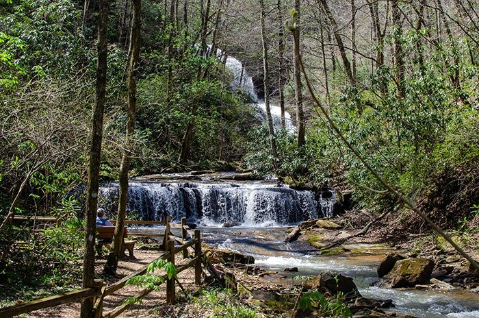 Waterfalls near Brevard NC Pearsons Falls Tryon Saluda
