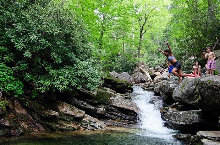 Waterfalls near Brevard Skinny Dip Falls