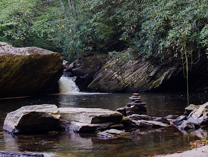 Boone Fork Trail near Banner Elk NC
