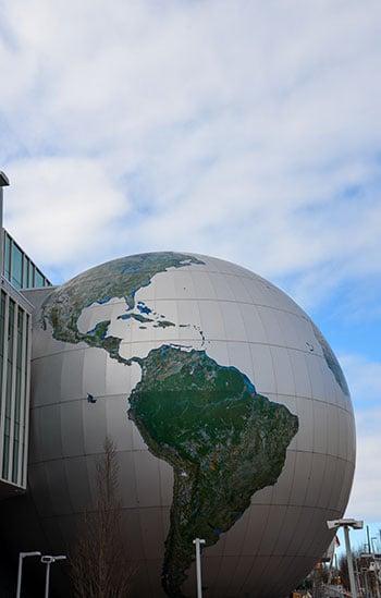 Globe at NC Museum of Natural Sciences
