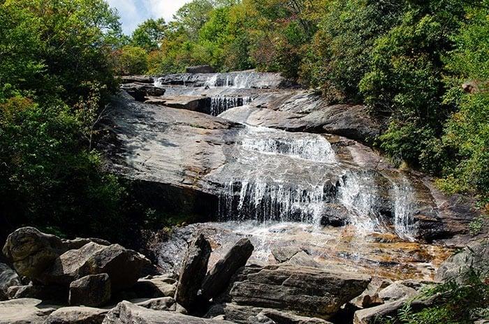 Graveyard Fields Lower Falls near Fryingpan Mountain Lookout Tower