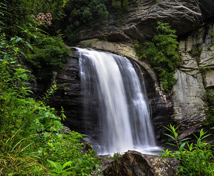 Looking Glass Falls near Brevard NC Mountain towns