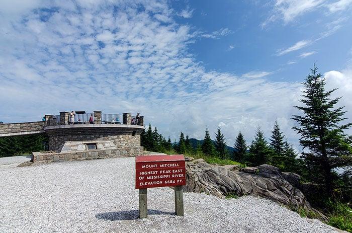 Mount Mitchell Summit near Little Switzerland NC