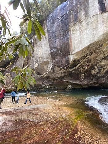 Rock Face at Cathedral Falls
