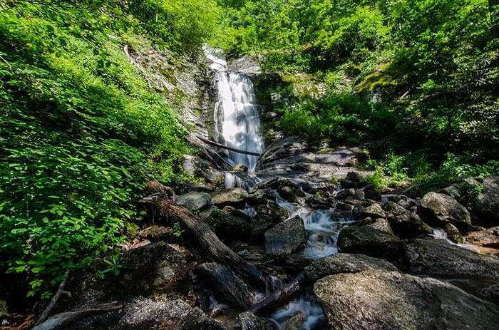 Toms Creek Falls Marion NC near Little Switzerland