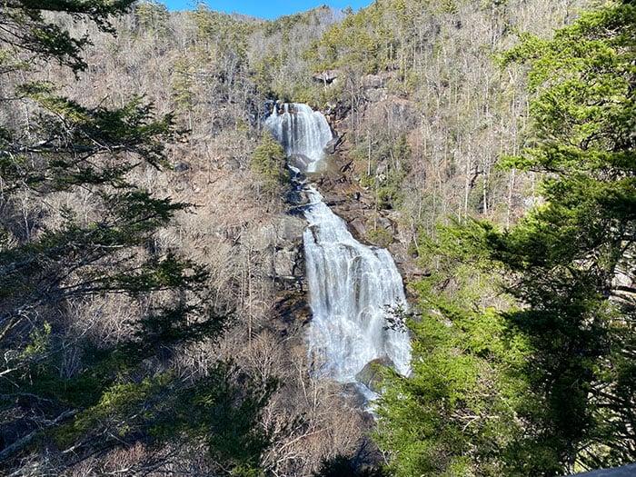 Upper Whitewater Falls near Bear Lake Reserver