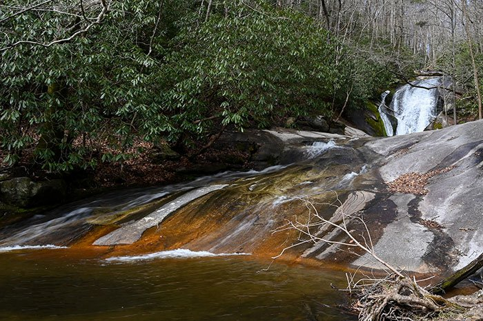 Waterslide in Stone Mountain State Park NC