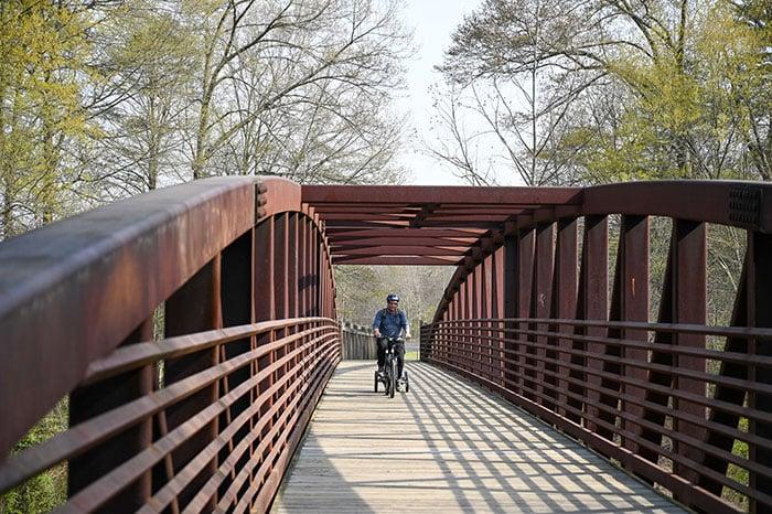 Catawba River Greenway Bridge to Freedom Park Morganton NC