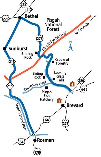 Forest Heritage Scenic Byway Map