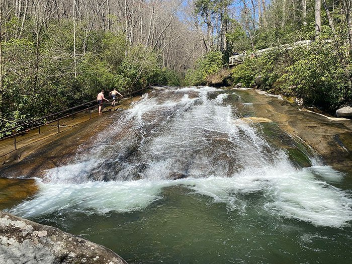 Forest Heritage Scenic Byway Sliding Rock NC