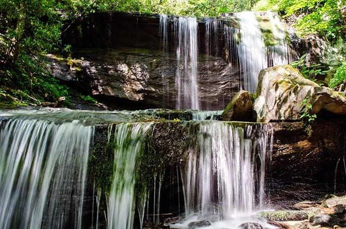 Grassy Creek Falls Little Switzerland Waterfalls near Asheville NC