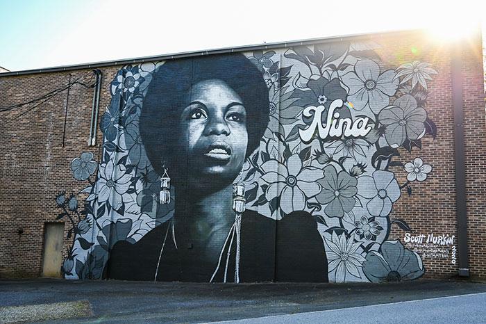 Nina Simone Mural Tryon NC