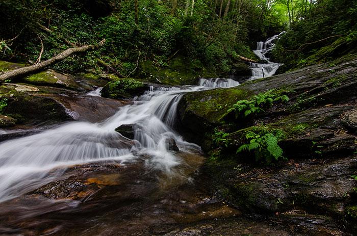 Roaring Fork Falls near Setrock Creek Falls NC