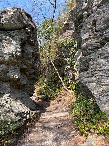 Rock outcrop Table Rock Mountain
