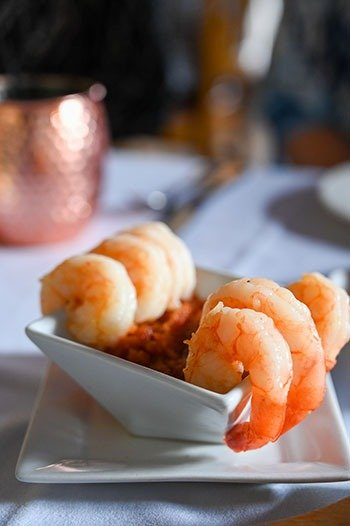 Shrimp at Inner Banks Inn